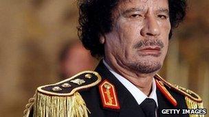 Col Muammar Gaddafi in Rome (June 2009)