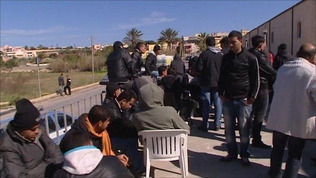 Tunisian migrants in Italy