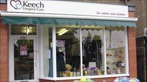 Keech Hospice Care shop in Stopsley