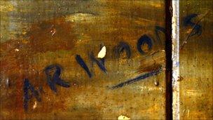 AR Woods signature
