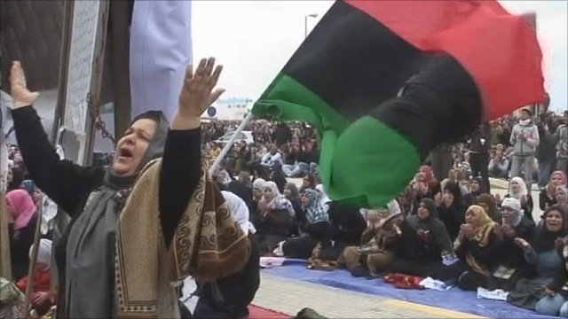 Friday prayers in Benghazi