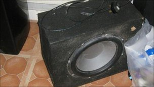 Speaker seized from house