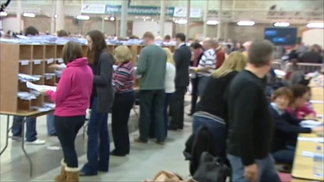 Inside Dublin's vote counting centre