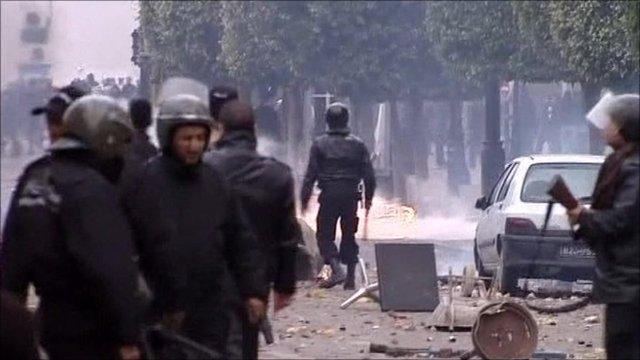Unrest in Tunis