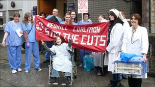 Members of Redhill Coalition Against Cuts