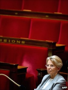 Michele Alliot-Marie at the French National Assembly in July 2010