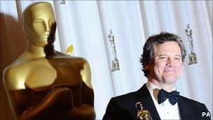 Colin Firth with his Oscar