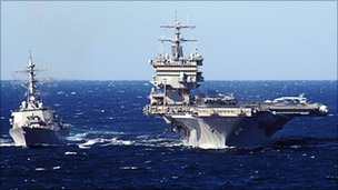 USS Enterprise (right)