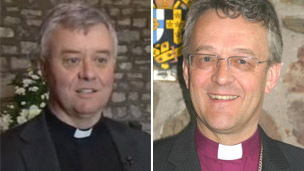 Canon Keith Evans, Vicar of Oystermouth, and The Rt Rev John Davies, Bishop of Swansea & Brecon