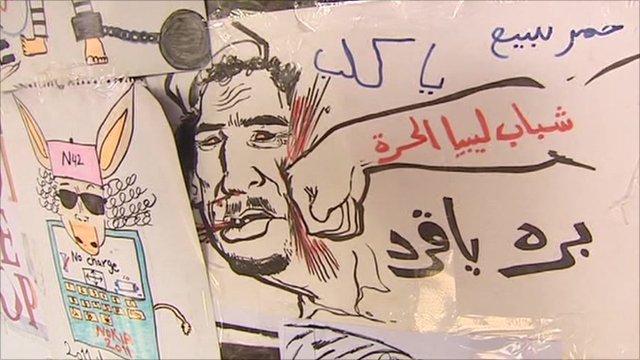 Anti-Gaddafi art