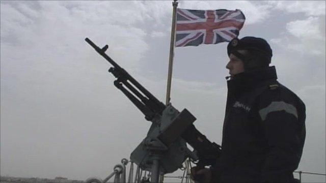 Servicemen on HMS York