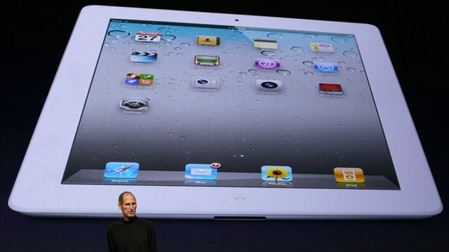 Steve Jobs at launch of iPad 2