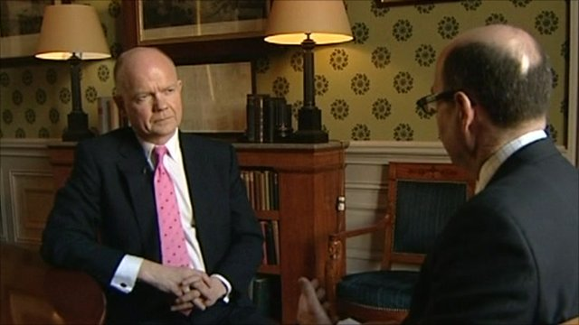 William Hague and Nick Robinson