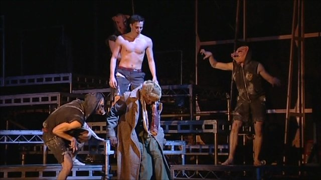 A scene from Matthew Bourne's Lord of the Flies