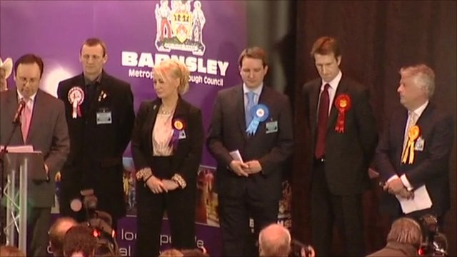 Candidates at the Barnsley by-election