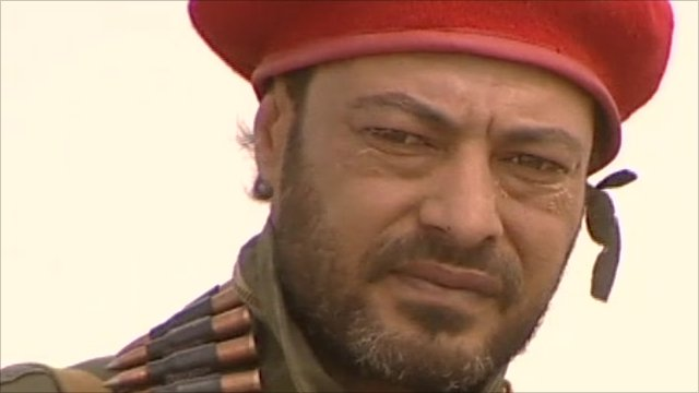 A Libyan rebel