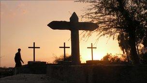 The graveyard in Khushpur