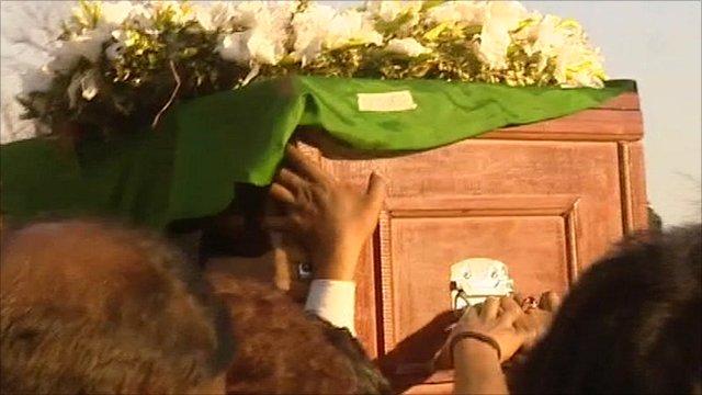 Shahbaz Bhatti's burial service