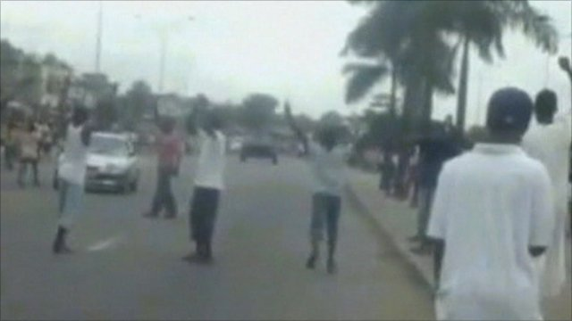 People on the streets of Abidjan