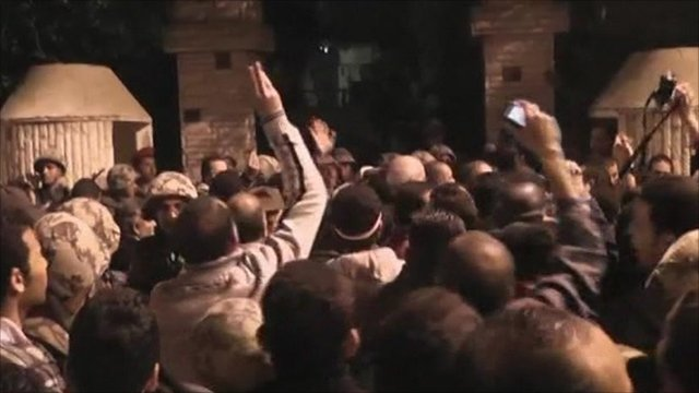 Egyptian protesters storm state security police headquarters in Alexandria