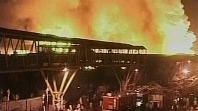 Blaze in Garib Nagar shantytown in Mumbai