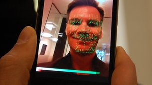 ThirdSight's emotion recognition app running on a smartphone