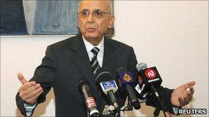 Former Tunisian Prime Minister Mohammed Ghannouchi (27 Feb 2011)