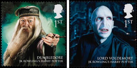 Dumbledore and Lord Voldemort stamps