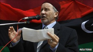 Mustafa Mohammed Abdul Jalil in Beyda, Libya (4 March 2011)