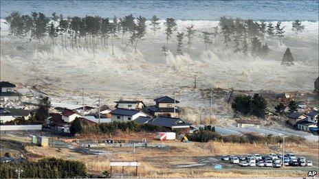 Tsunami comes in