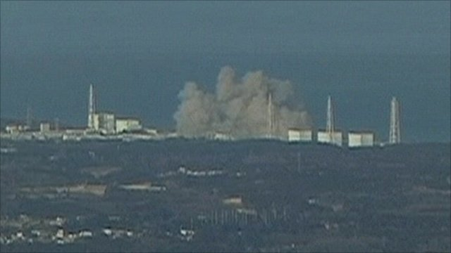 Nuclear power plant explosion