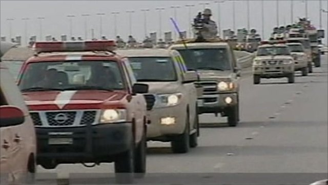 Convoy of troops