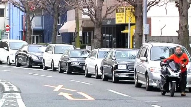 Drivers in Japan queue for petrol