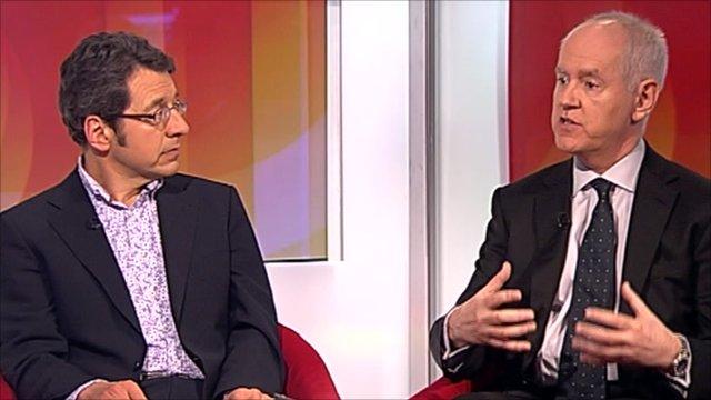 George Monbiot and Ken Macdonald