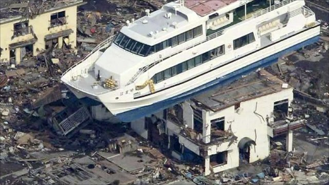 Aftermath of tsunami