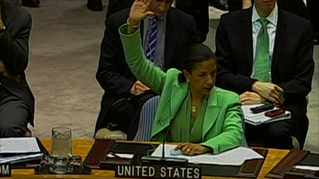 United States representative voting in the United Nations