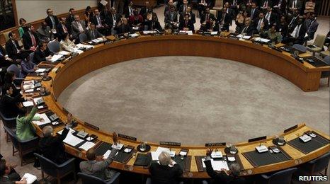UN Security Council voiding on Libya