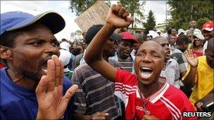 Swazi protesters (18/03)