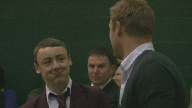 Cameron Foster and Andrew Flintoff