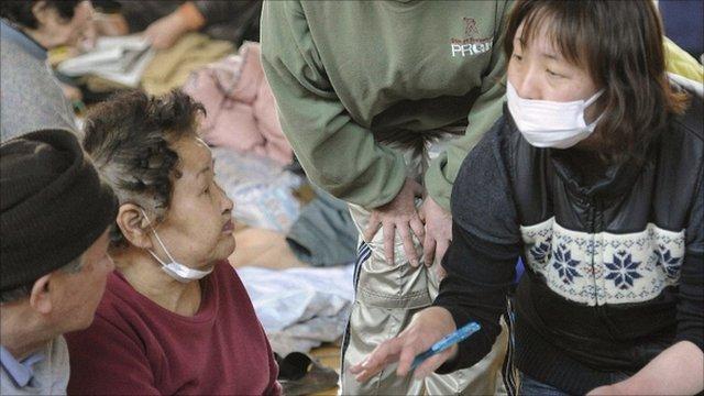 Otsuchi Town evacuation centre