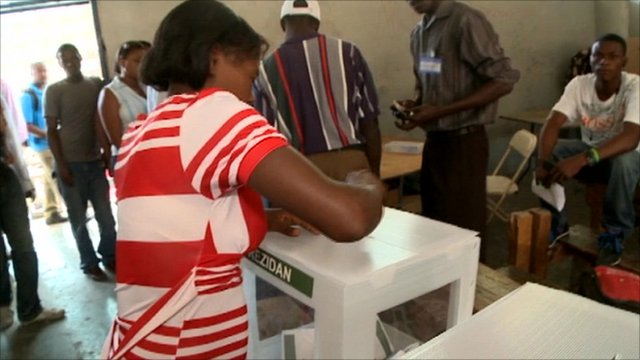 Voting in Haiti