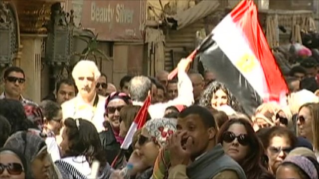 Voting queues and Egyptian flags