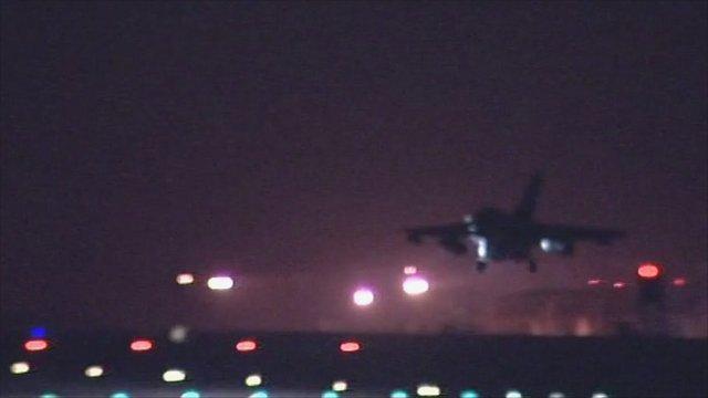 RAF Tornado coming into land