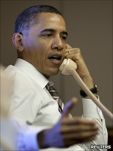 President Obama on Air Force One