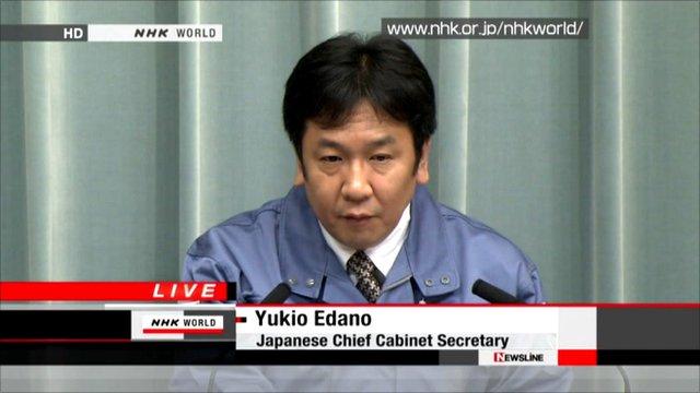Japan's Chief Cabinet Secretary Yukio Edano