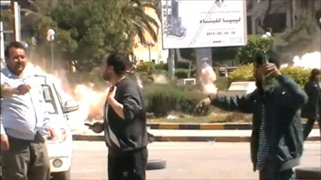 Men witness explosion in Misrata