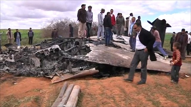 Crashed US warplane in Libya