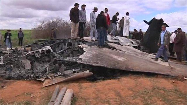 US war plane that crash landed in Libya