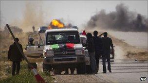 Rebels near Ajdabiya, 22 March