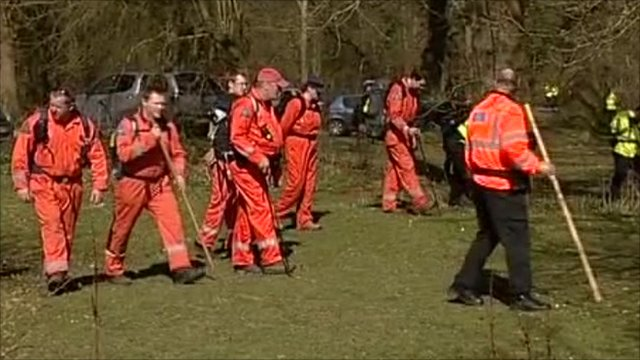Search of woodland carried out